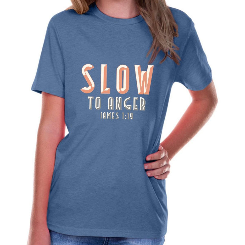 T-Shirts - Slow To Anger Youth Jersey Short Sleeve Christian T Shirt