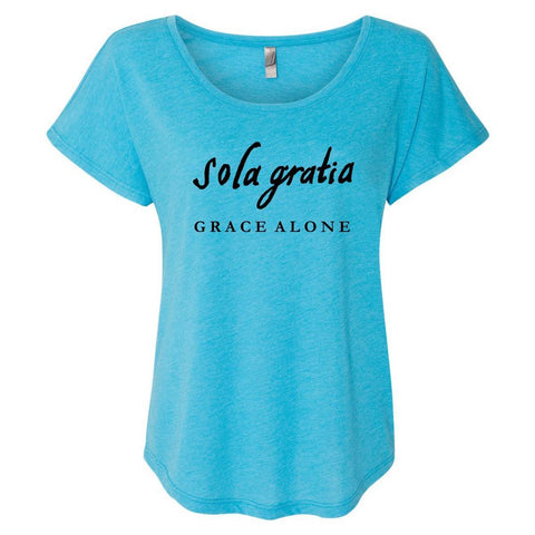 Image of T-Shirts - Sola Gratia Grace Alone Women's Christian Dolman T-Shirt