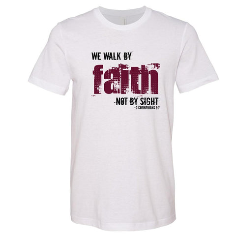 Image of T-Shirts - Walk By Faith Christian Jersey T-Shirt