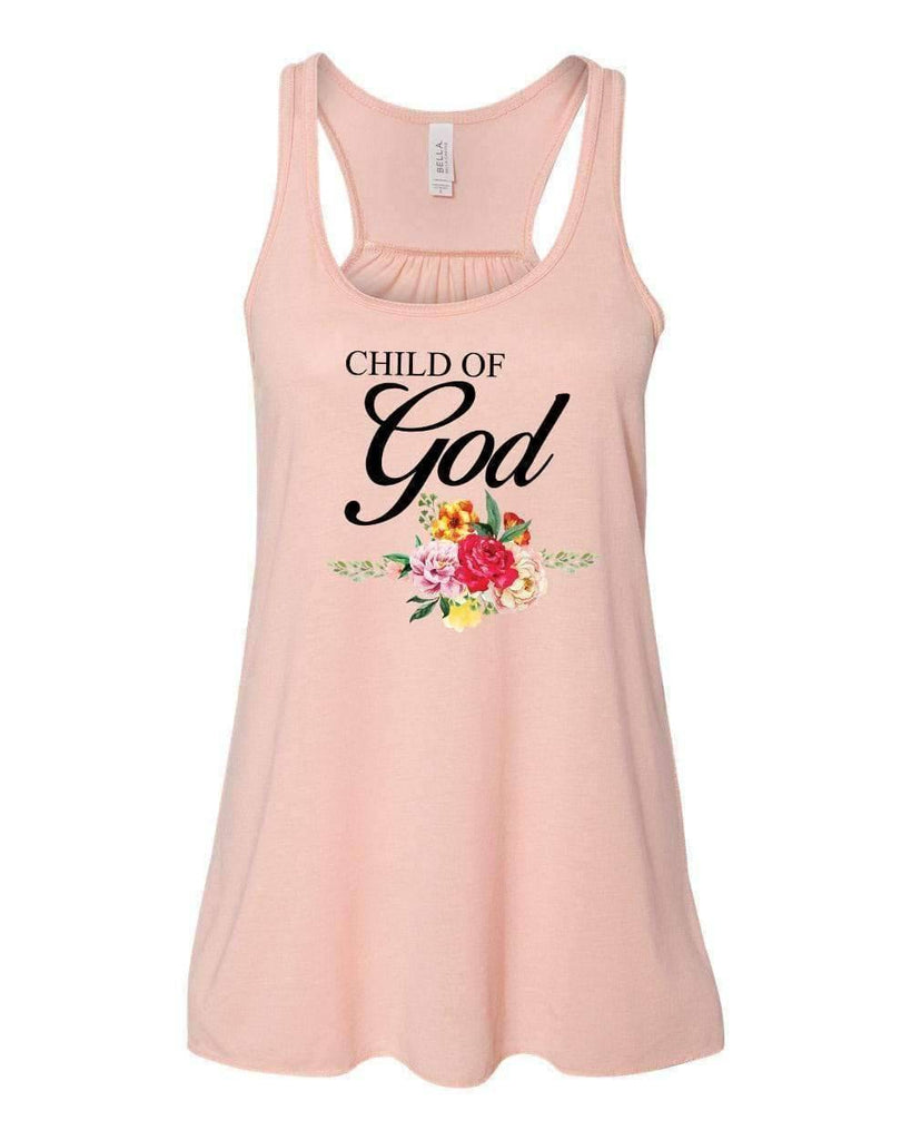 Tank Tops - Child Of God Christian Flowy Racerback Tank