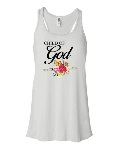 Image of Tank Tops - Child Of God Christian Flowy Racerback Tank