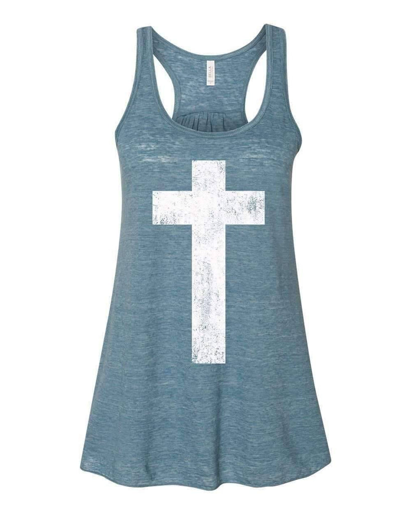 Tank Tops - Cross Women's Christian Flowy Racerback Tank Top