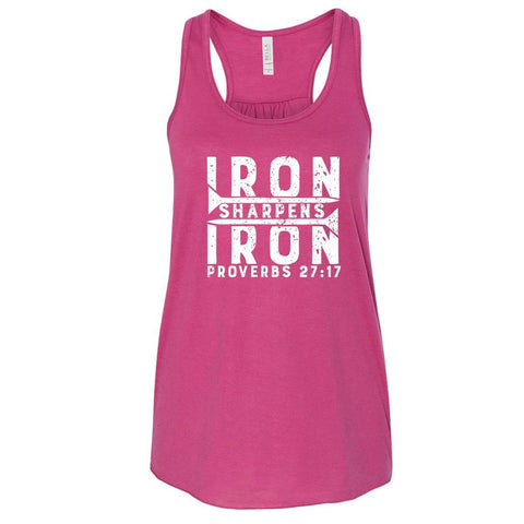 Image of Tank Tops - Iron Sharpens Iron Women's Christian Flowy Racerback Tank Top