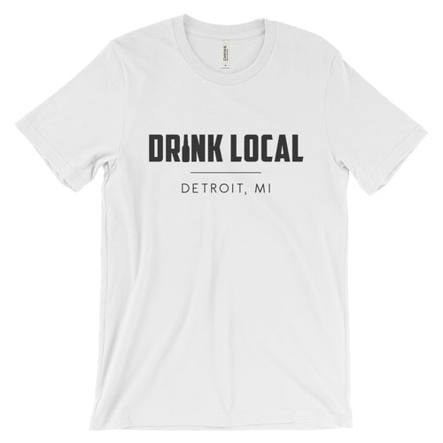 Detroit, MI Drink Local Unisex T-shirt (Light)