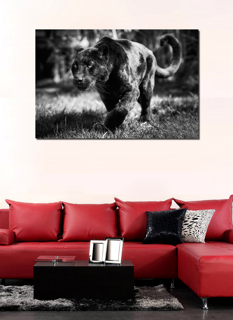 canik104 Canvas Print Stretched Wrapped panther sneaks hunts cat animal 26x40""
