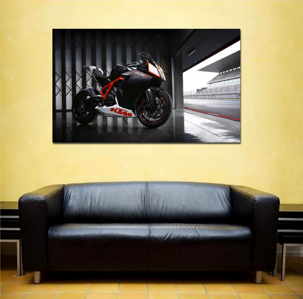 canik109 Canvas Print Stretched Wrapped sports bike 26x44""