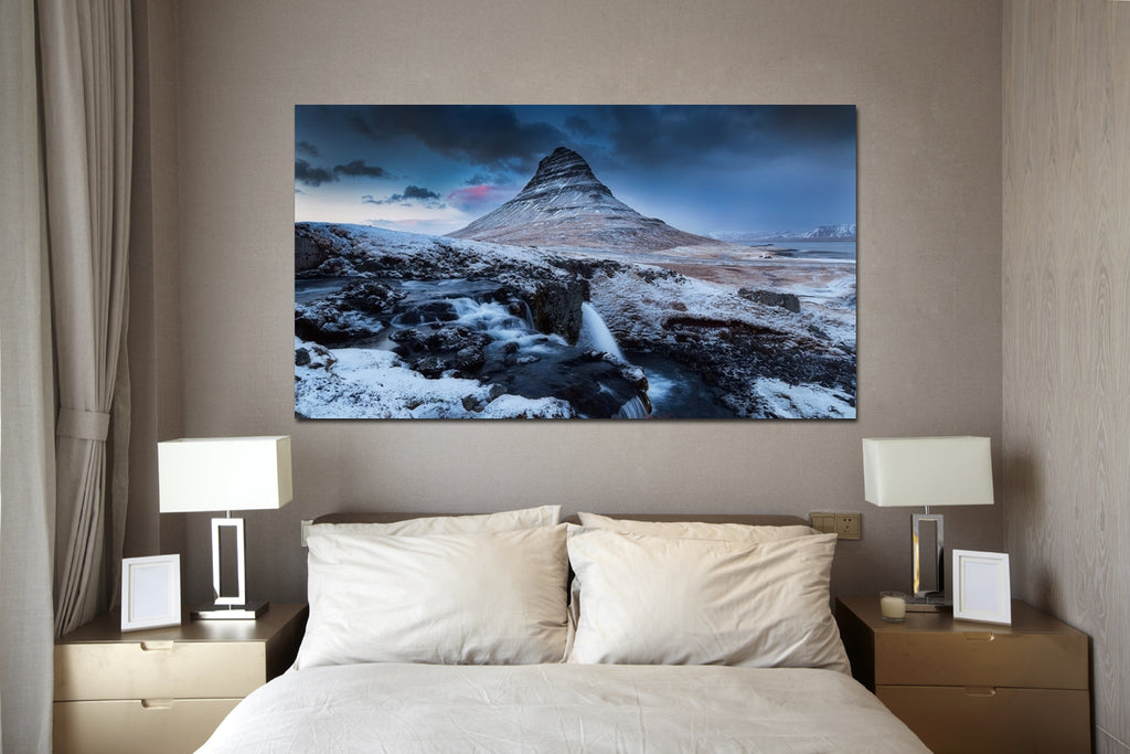 canik10 Canvas Print Stretched Wrapped mountain stream spring 26x48""