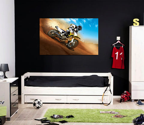 canik110 Canvas Print Stretched Wrapped sport bike motocross 26x43""