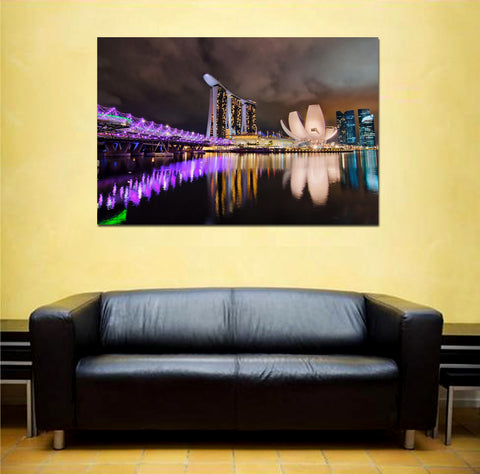 canik112 Canvas Print Stretched Wrapped City Singapore Asia 26x40""