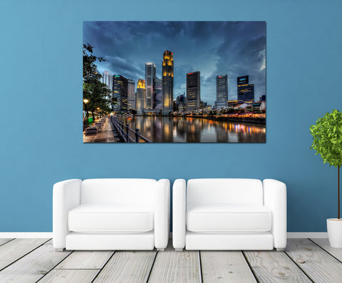 canik113 Canvas Print Stretched Wrapped City Singapore Asia 26x40""