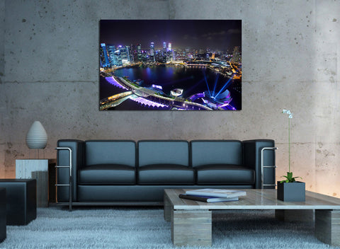 canik114 Canvas Print Stretched Wrapped City Singapore Asia 26x42""