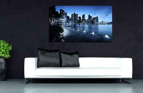 canik115 Canvas Print Stretched Wrapped City Singapore Asia 26x47""