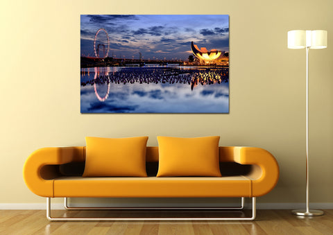 canik116 Canvas Print Stretched Wrapped City Singapore Asia 26x41""