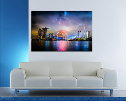 canik117 Canvas Print Stretched Wrapped City Singapore Asia 26x40""