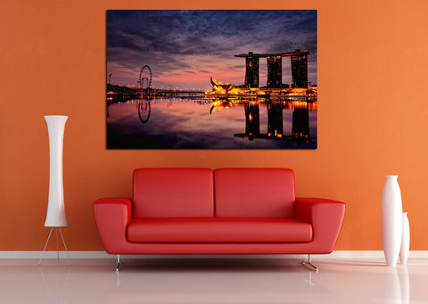 canik118 Canvas Print Stretched Wrapped City Singapore Asia 26x40""