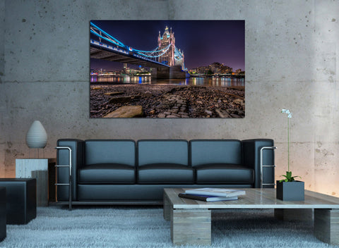 canik119 Canvas Print Stretched Wrapped England bridge river 26x42""