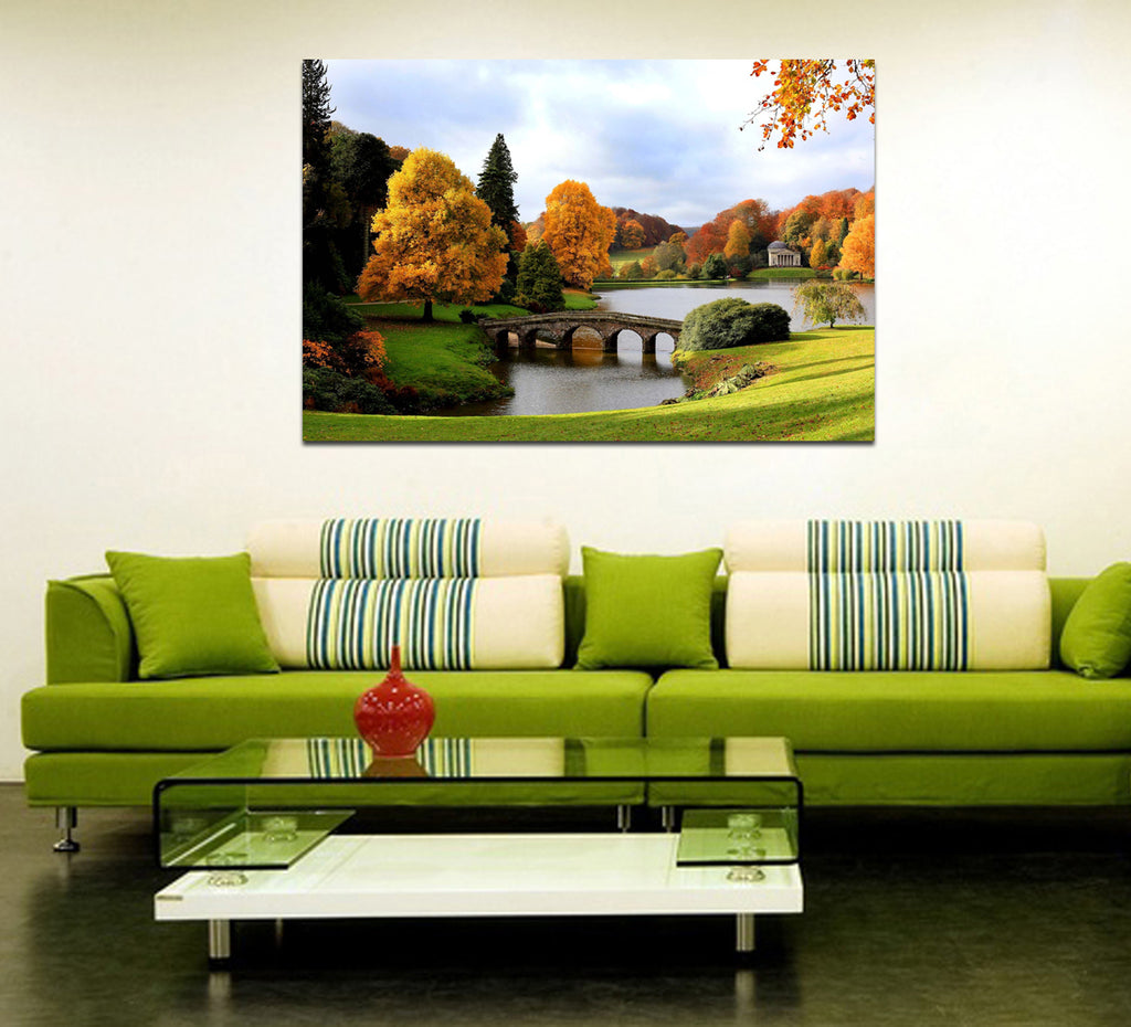 canik120 Canvas Print Stretched Wrapped nature england old bridge park 26x40""