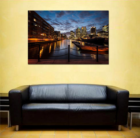 canik121 Canvas Print Stretched Wrapped England River City pier 26x40""