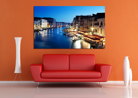 canik125 Canvas Print Stretched Wrapped italy venice city night 26x45""