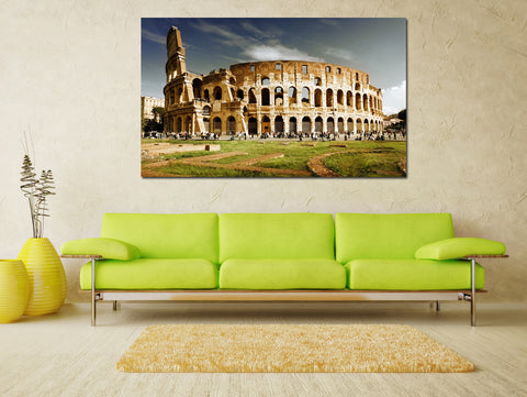 canik127 Canvas Print Stretched Wrapped Italy Rome Coliseum 26x45""