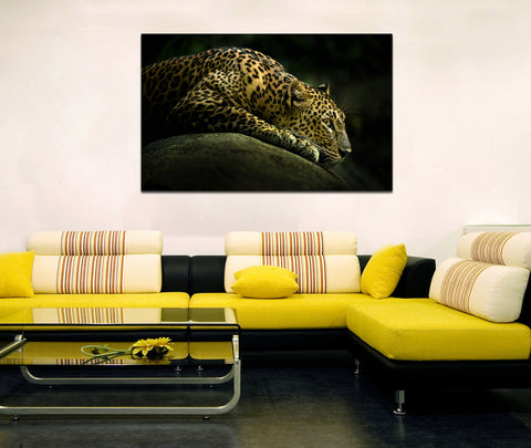 canik143 Canvas Print Stretched Jaguar africa big cat predator 26x43""