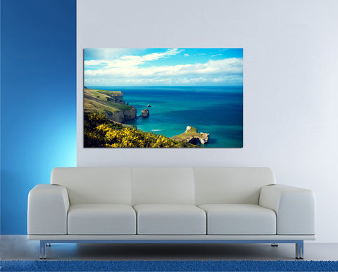 canik148 Canvas Print Stretched beautiful landscape ocean rocks 26x43""