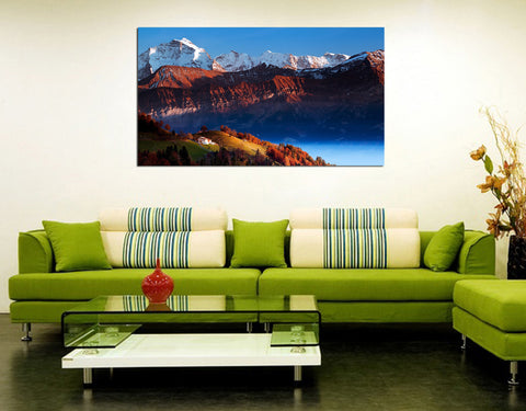 canik14 Canvas Print Stretched Wrapped the mountains 26x48""