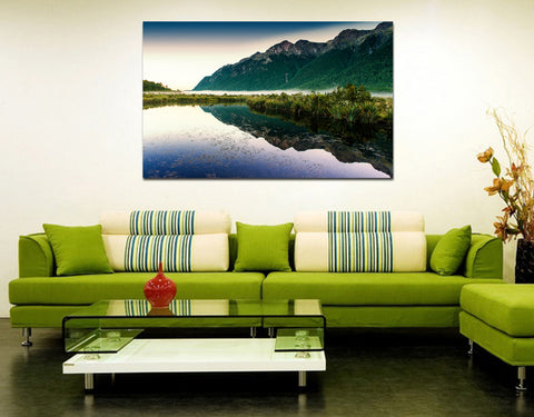 canik152 Canvas Print Stretched beautiful landscape mountain lake 26x43""