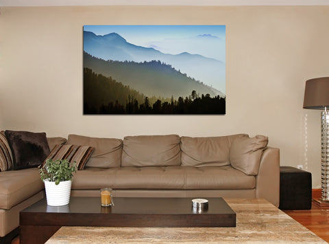 canik156 Canvas Print Stretched landscape mountain forest 26x43""