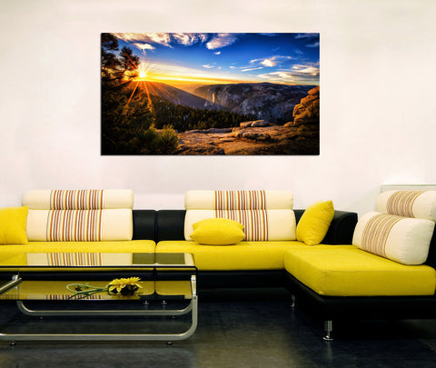 canik15 Canvas Print Stretched Wrapped Sunrise Mountain 26x48""