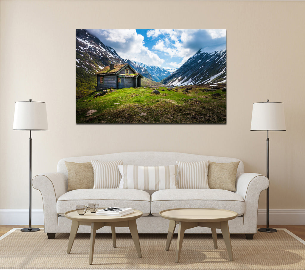 canik167 Canvas Print Stretched landscape mountain lodge 26x43""
