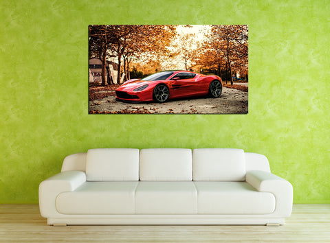 canik16 Canvas Print Stretched Wrapped Italian car super car sport auto 26x48""