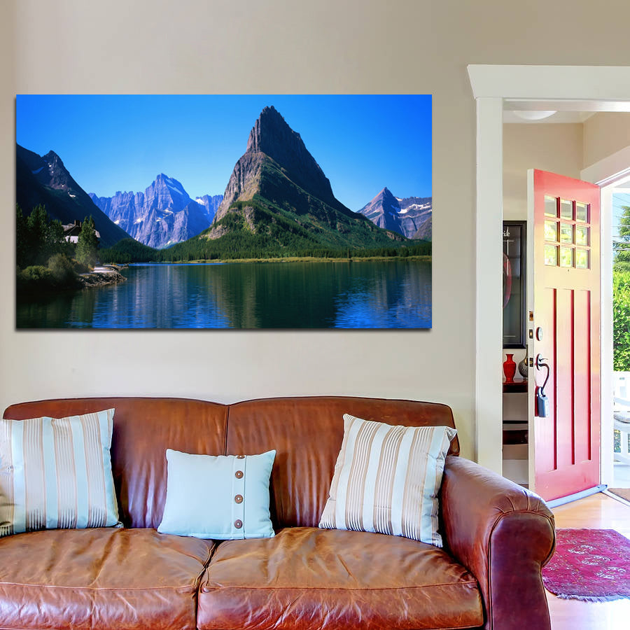 canik170 Canvas Print Stretched Mountain lake landscape 26x48""