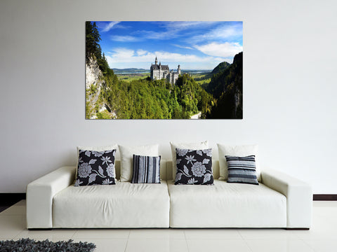 canik176 Canvas Print Stretched Germany Castle Mountain 26x43""