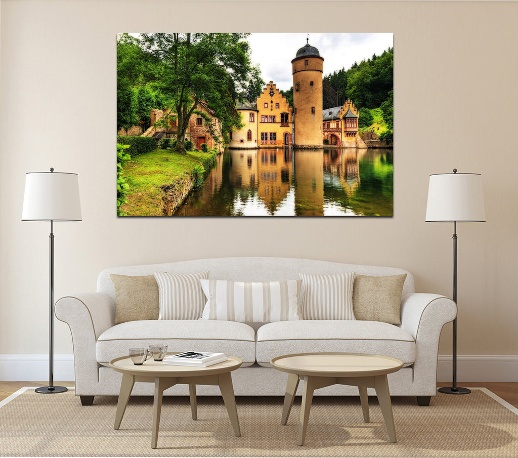 canik177 Canvas Print Stretched Germany castle pond 26x40""