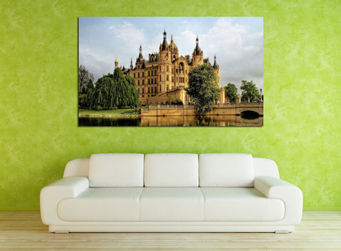 canik178 Canvas Print Stretched Germany beautiful castle pond bridge 26x45""