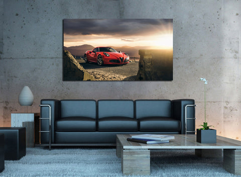canik17 Canvas Print Stretched Wrapped Italian car super car sport auto 26x48""