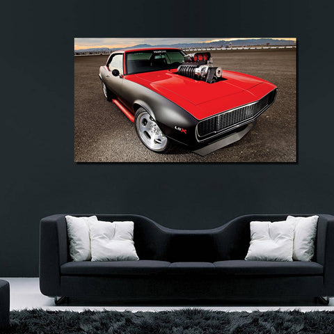 canik24 Canvas Print Stretched Wrapped 1968 Luxury hot rod sport car 26x48""