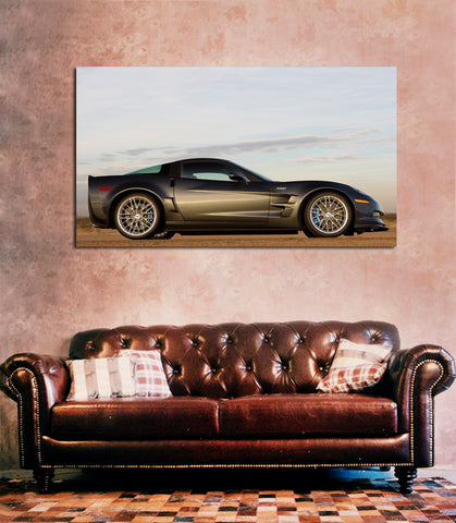canik27 Canvas Print Stretched Wrapped Luxury hot rod American sport car 26x48""