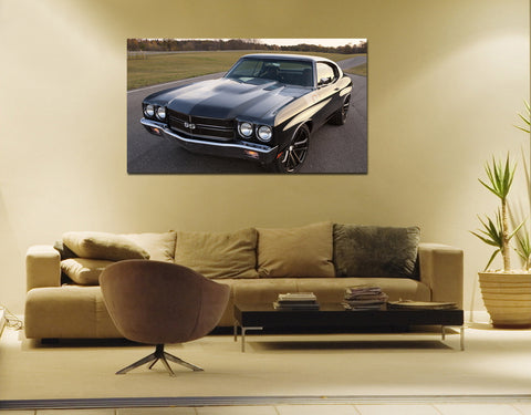 canik29 Canvas Print Stretched Wrapped Luxury hot rod American sport car 26x48""