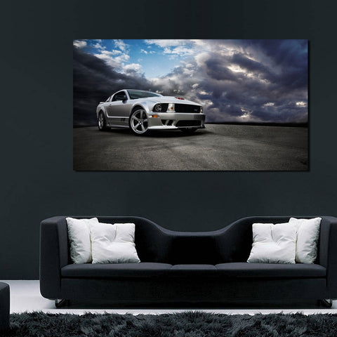 canik30 Canvas Print Stretched Wrapped Luxury hot rod American sport car 26x48""