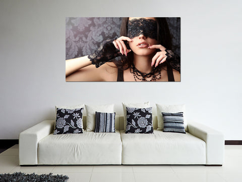 canik3 Canvas Print Stretched Wrapped Girl blindfold 26x48""