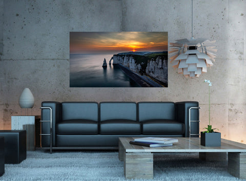 canik8 Canvas Print Stretched Wrapped Ocean rock cliff 26x48""
