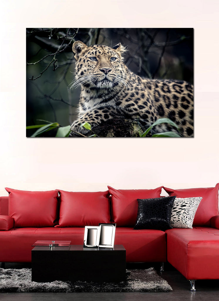 canik99 Canvas Print Stretched Wrapped leopard animal big cat tree 26x41""
