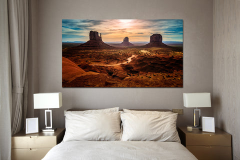 canik9 Canvas Print Stretched Wrapped desert rocks 26x48""