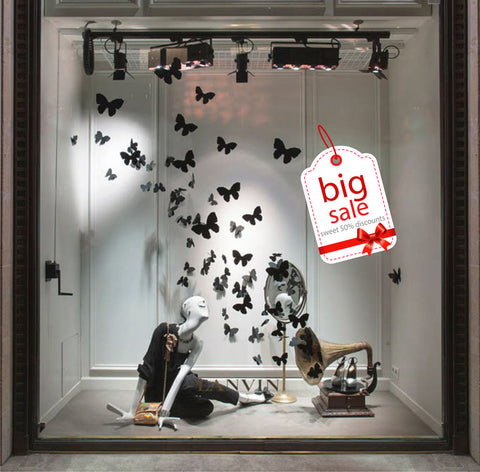 cik1013 Full Color Wall decal sale price Valentine's Day shop window Showcases