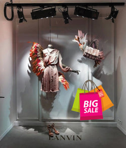 cik1017 Full Color Wall decal big sale packages purchases shop window Showcases