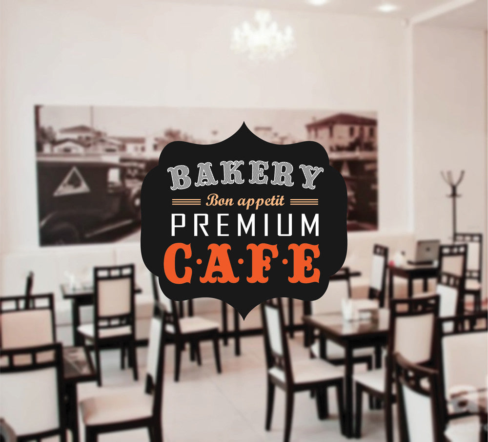 cik1024 Full Color Wall decal premium bakery cafe sweets