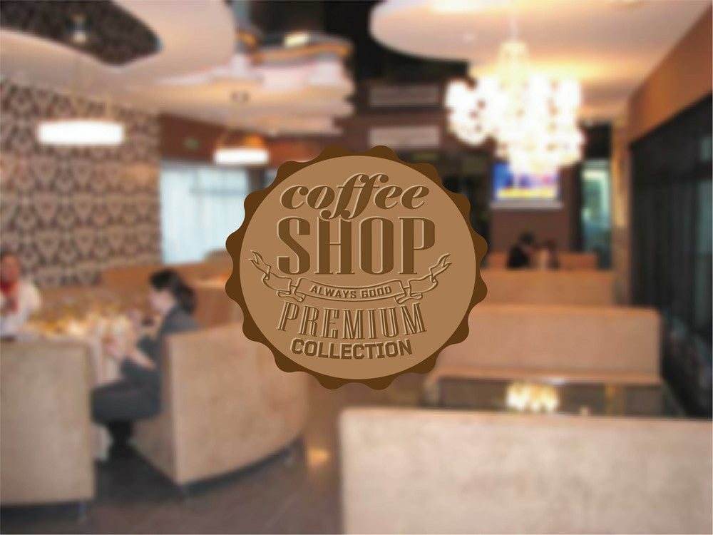 cik1025 Full Color Wall decal Coffee Shop Premium Collection