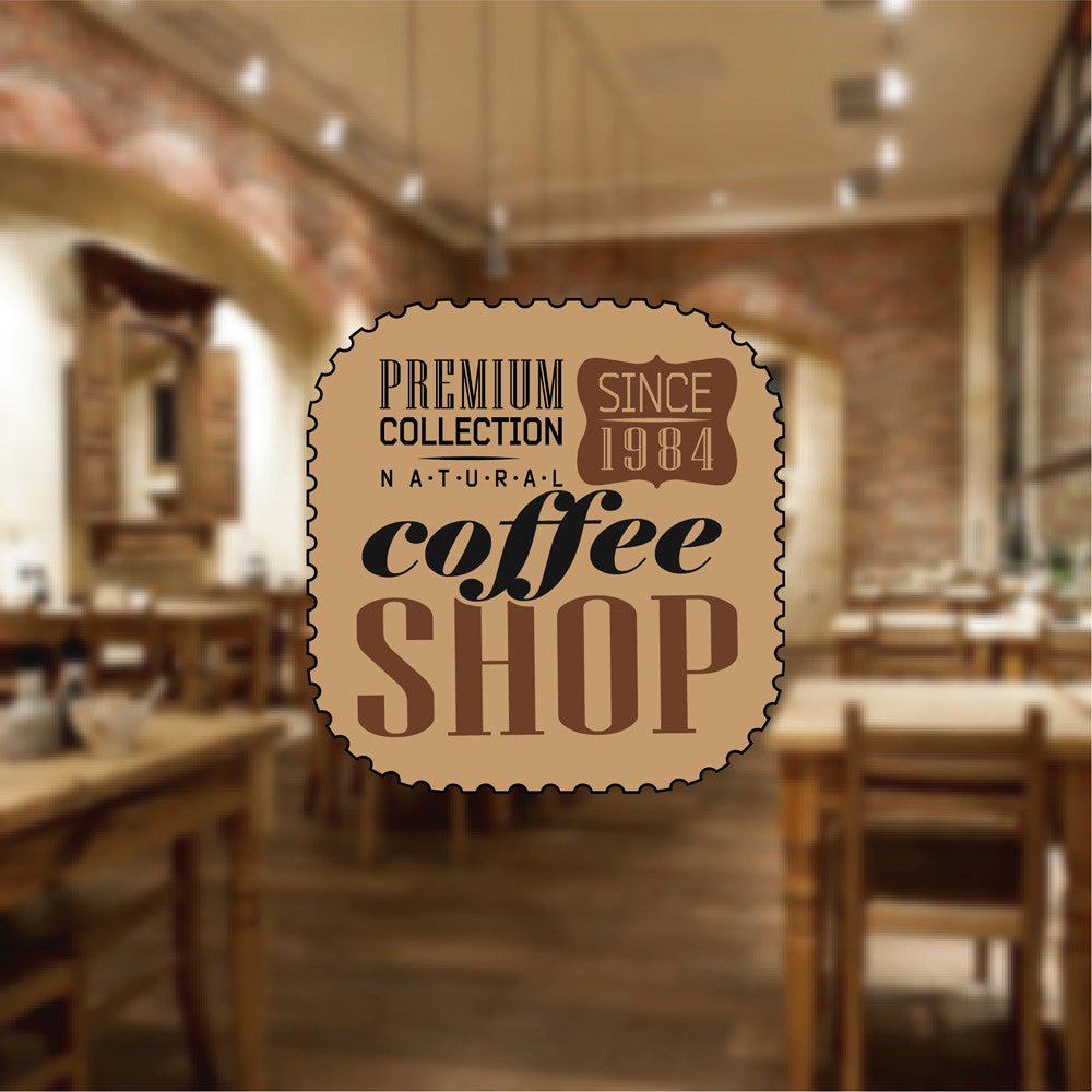 cik1026 Full Color Wall decal Coffee Shop Premium Collection